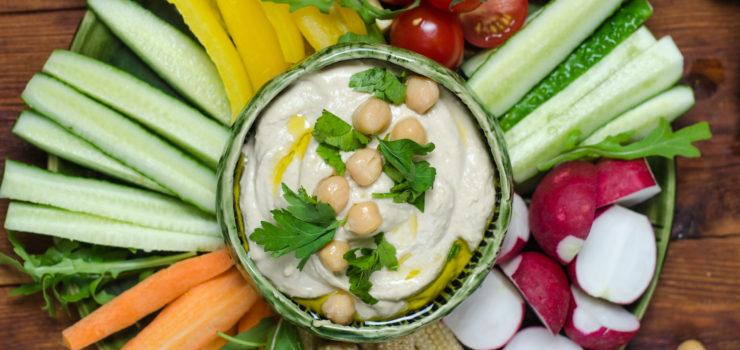 Gemüse mit Joghurt bei Hitzwallungen
